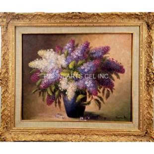 A Fine Vintage Still Life Floral Painting Signed