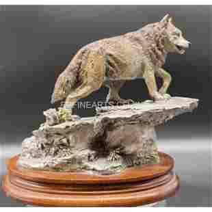 A McGrory Pewter Sculpture Kindred Spirit Brother Wolf