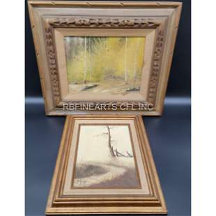 Antique Oil On Canvas Landscape Painting Signed HUME