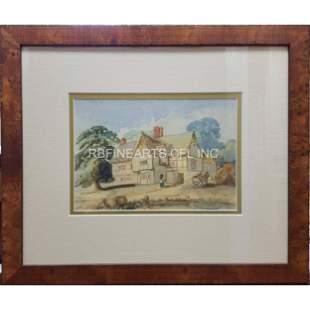 Unknown English Tudor House Estate Circa: 1870