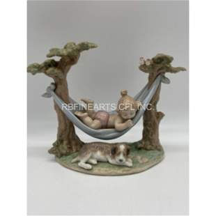 """Vintage Lladro Figurine """"Little Napmates"""" Retired 6853"""