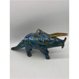 Vintage Chinese Cloisonné Rhinoceros