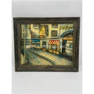 W. Mirkin Signed Oil On Canvas Painting Paris