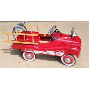 Burns Novelty Pedal Fire Truck