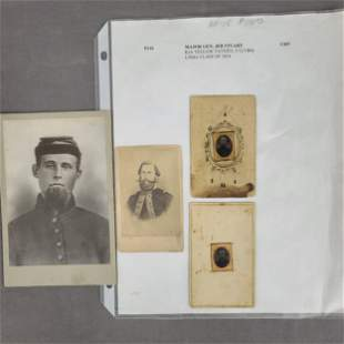 A Group Of 4 Civil War Portraits Major General JEB STUA