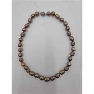 Natural Tahitian Pearl Necklace Natural Color