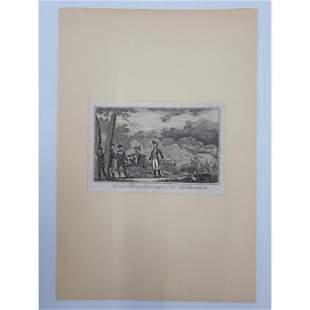 18Th C Revolutionary War Engraving General Braddock