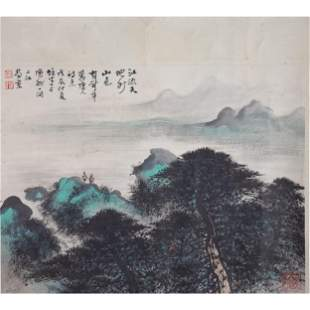 Chinese Ink & Watercolor Attributed to Xiongcai