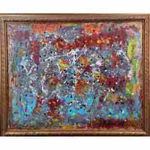 Abstract Painting Signed J Pollock 1957