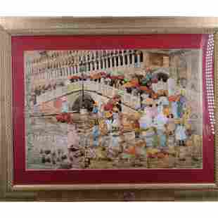 Watercolor Painting After Maurice Brazil Prendergast