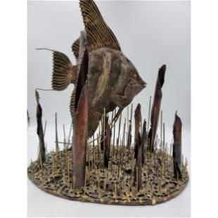 A Mid Century Modern Fish Sculpture