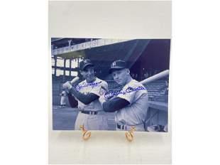 Yankees Joe DiMaggio & Mickey Mantle Autograph W/ COA