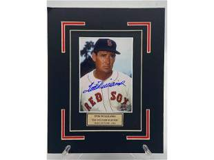 VINTAGE MLB TED WILLIAMS BOSTON RED SOX AUTOGRAPHED PHO