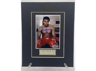 Muhammad Ali Signed Photo Matted w/ COA