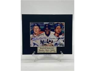 Baseball Immortals Mantle-Mays-Snider Signed Photo