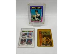 Lot Of 3 Vintage Baseball Cards,1975 Nolan Ryan Card TO
