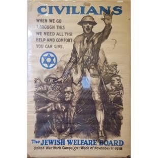 ORIGINAL Civilians / Jewish Welfare Board. 1918.