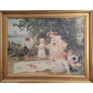 Fred (Frederick) Morgan Print On Canvas Embellished