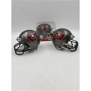 Collection Of NFL Tampa Bay Bucs Autographed Mini-Helme