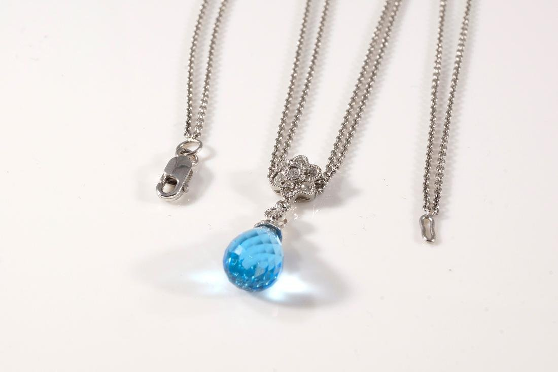 Blue Topaz Pendant & Earring Set - 3