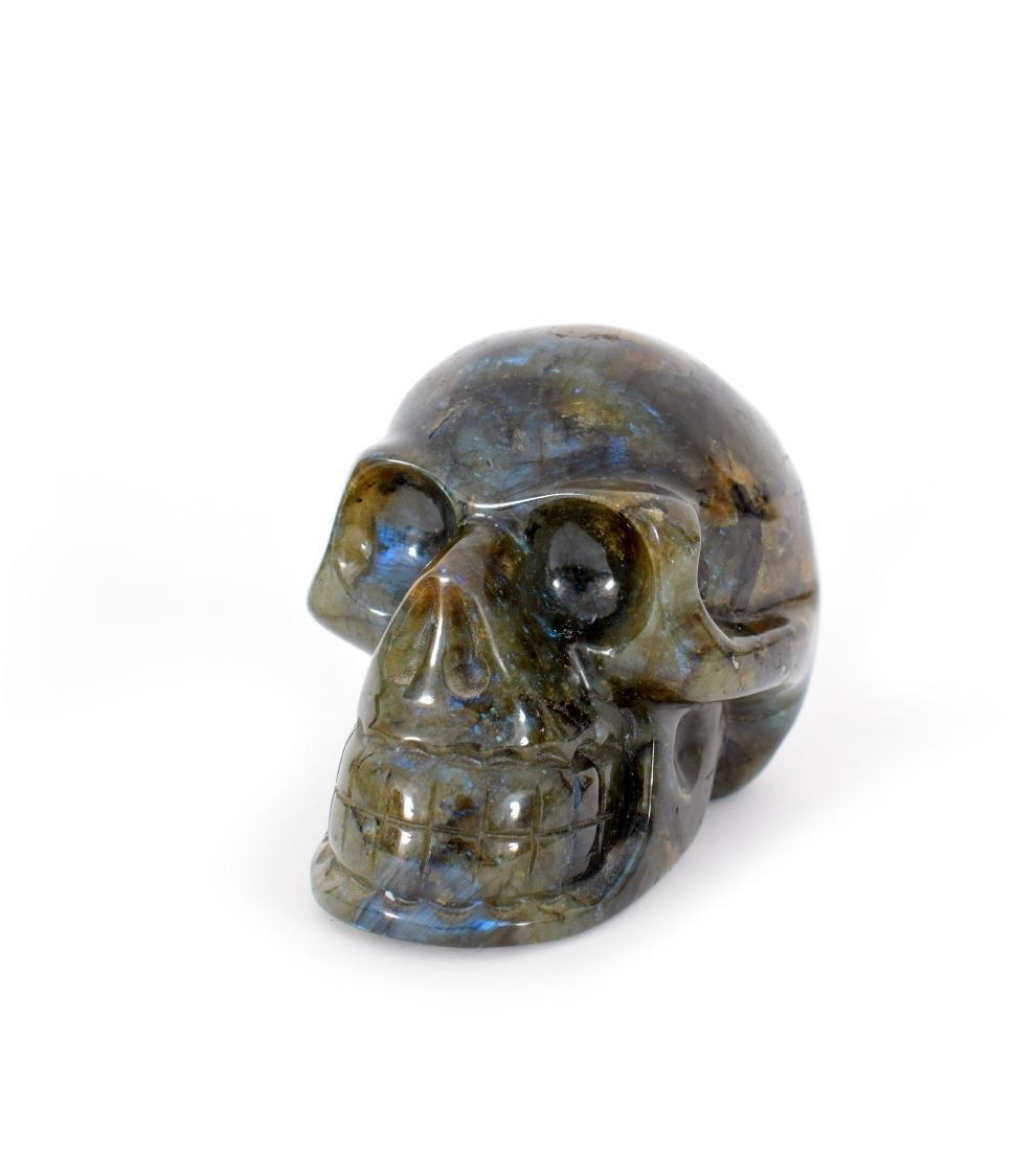 A pietra dura skull, 19th century