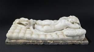 A 18th century white marble sculpture
