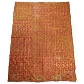 5 embroidered silk fabrics