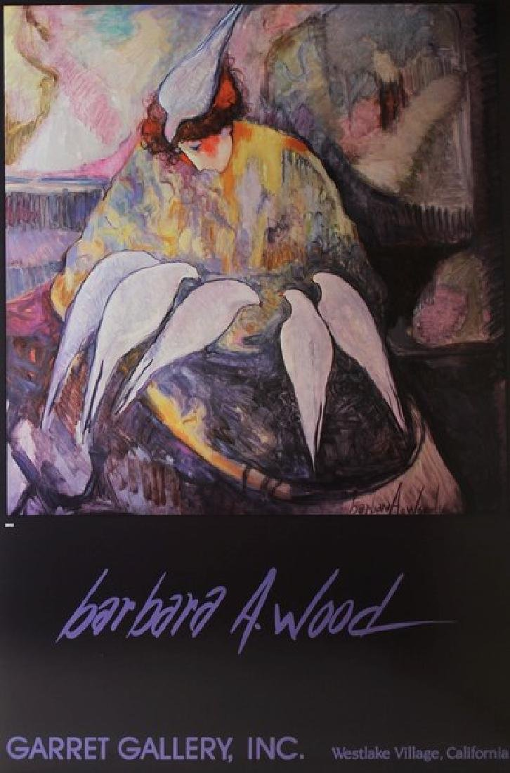 Signed Barbara A. Woods - Doves - 2