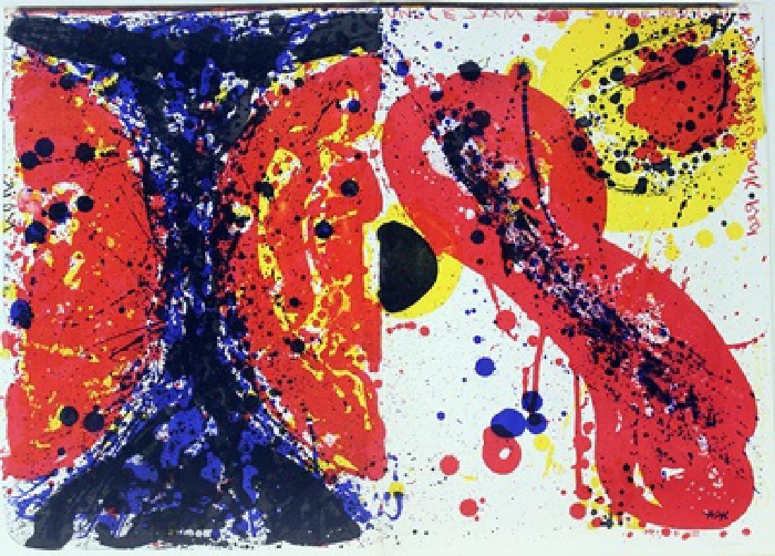 Original Lithograph Sam Francis
