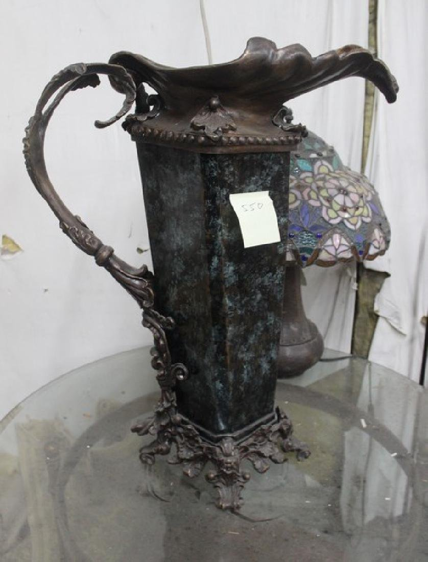 Bronze & Glass Vase - 2