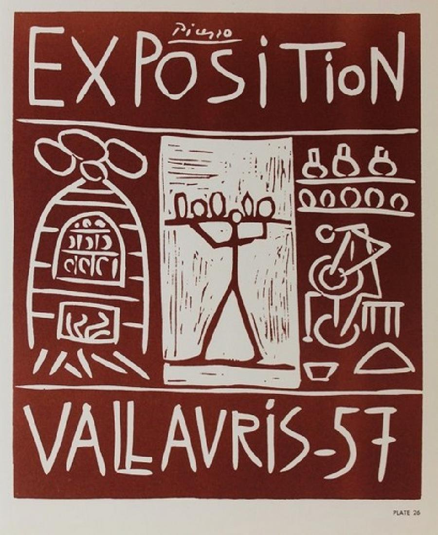 Lithograph Pablo Picasso Expo Vallauris, Plate 26 - 2