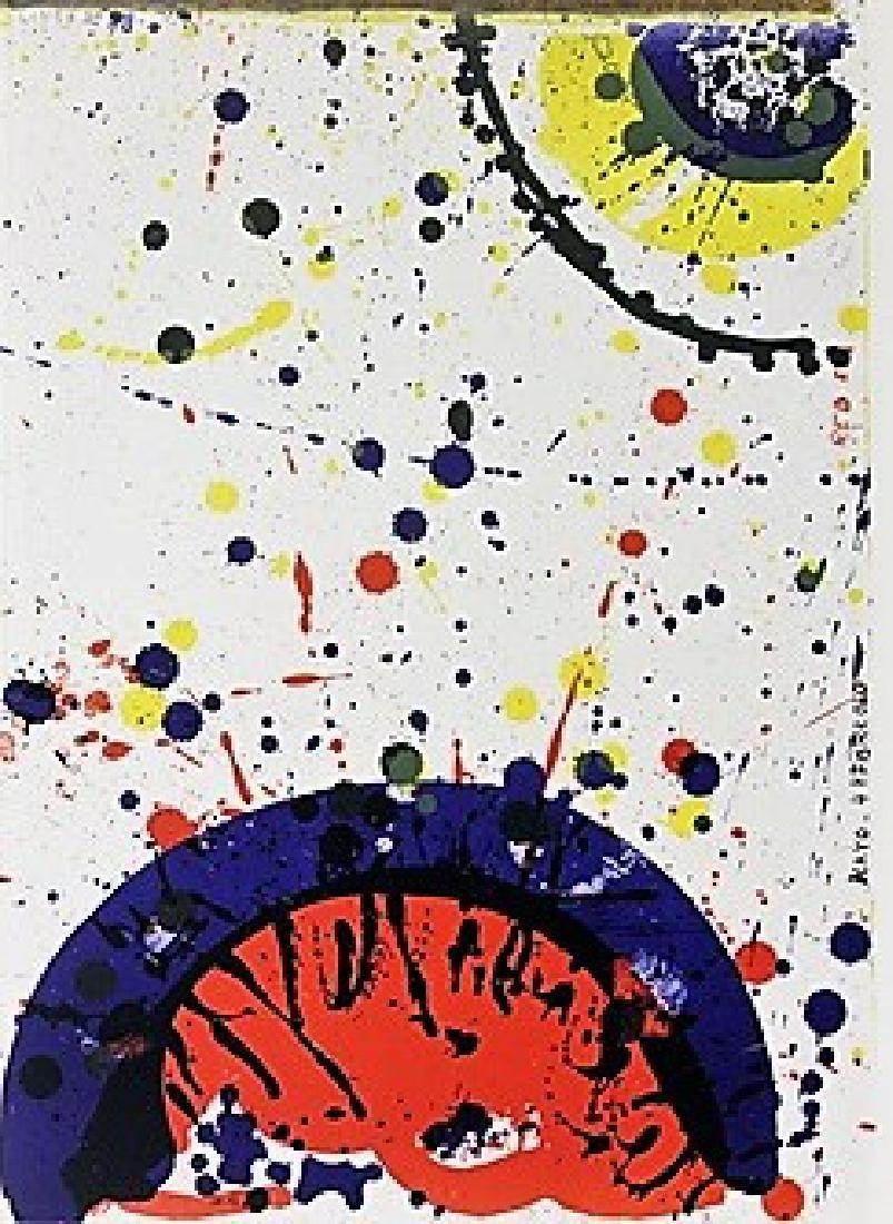 Original Signed Lithograph Sam Francis