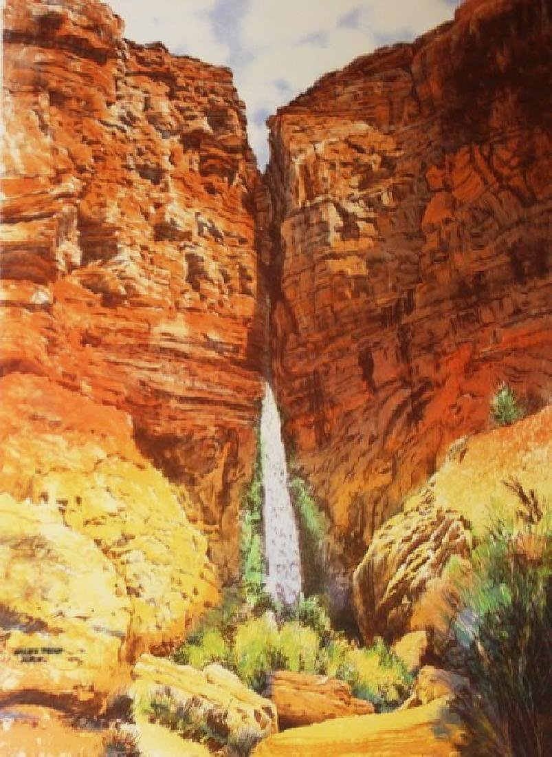 Fine Art Lithograph Manhaffy - Deer Creek Falls