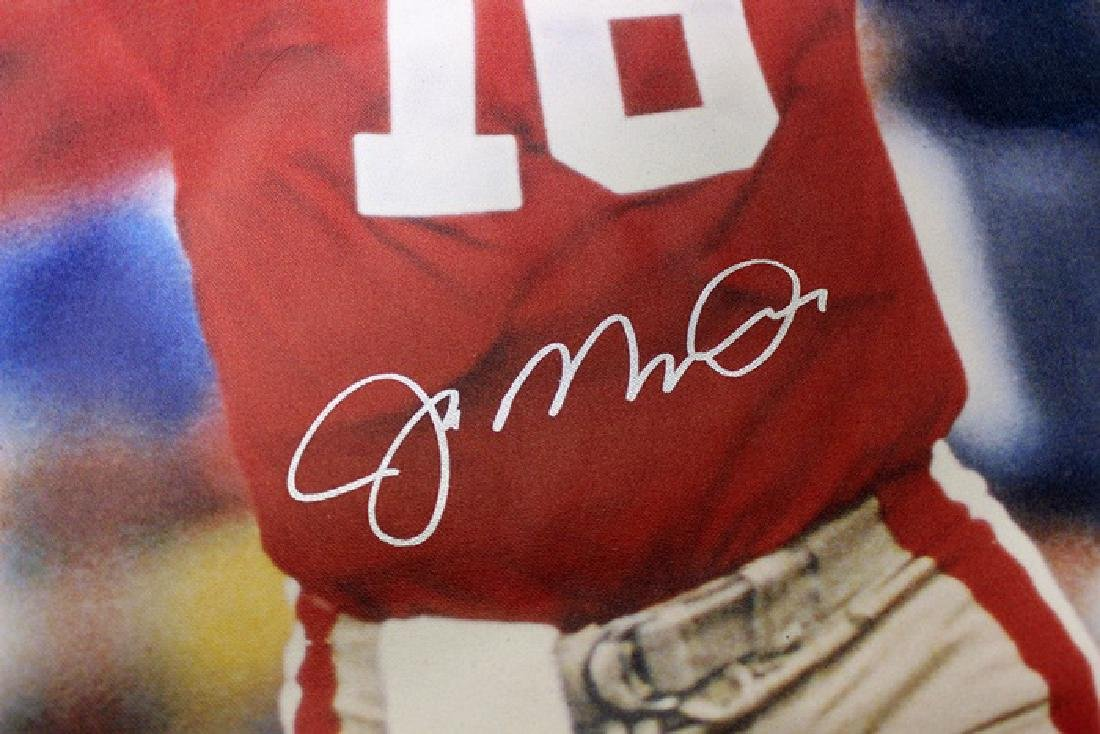 Joe Montana Hand Signed Canvas - 2