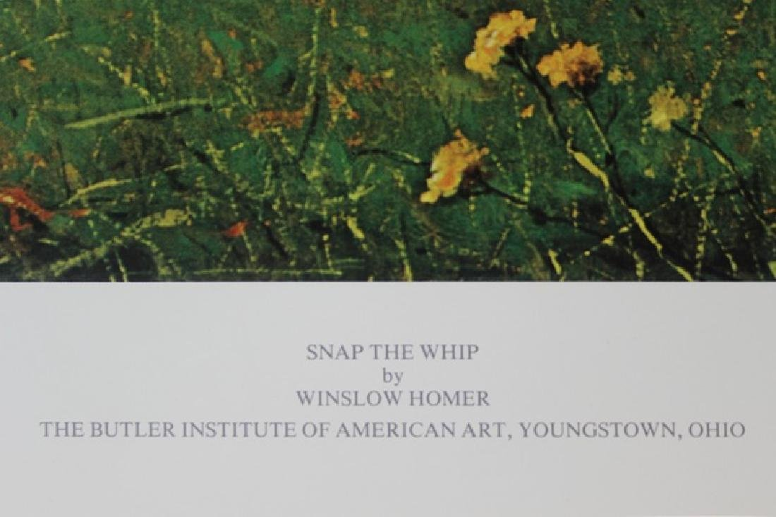 Signed Lithograph by Winslow Homer - Snap The Whip - 3