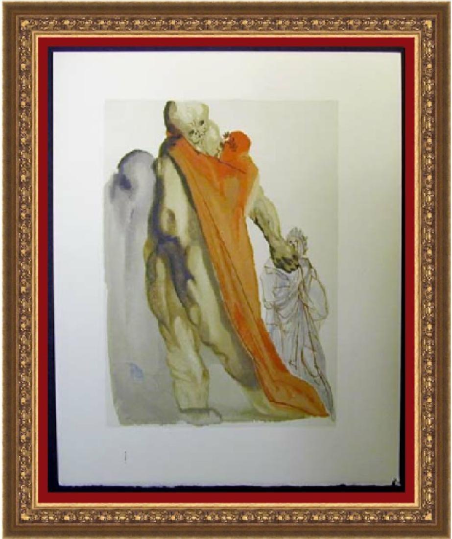 Salvador Dali Woodblock - Virgil's admonishment