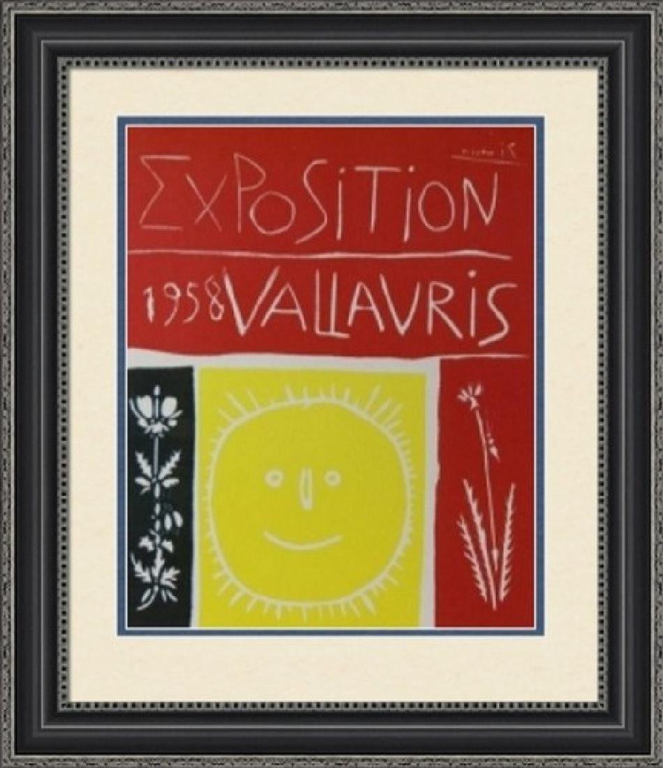 Lithograph Pablo Picasso Expo Vallauris 1958