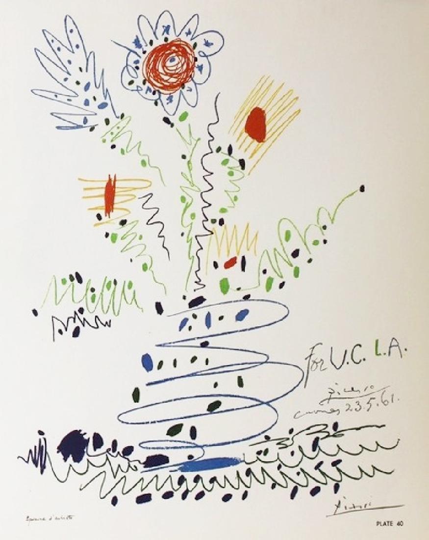 Lithograph Pablo Picasso U.C.L.A. 1961 - 2
