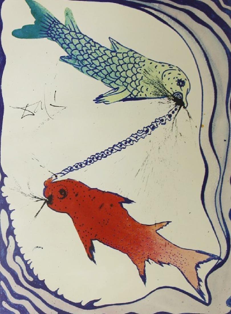 Pisces, Zodiac Suite - Salvador Dali - 2
