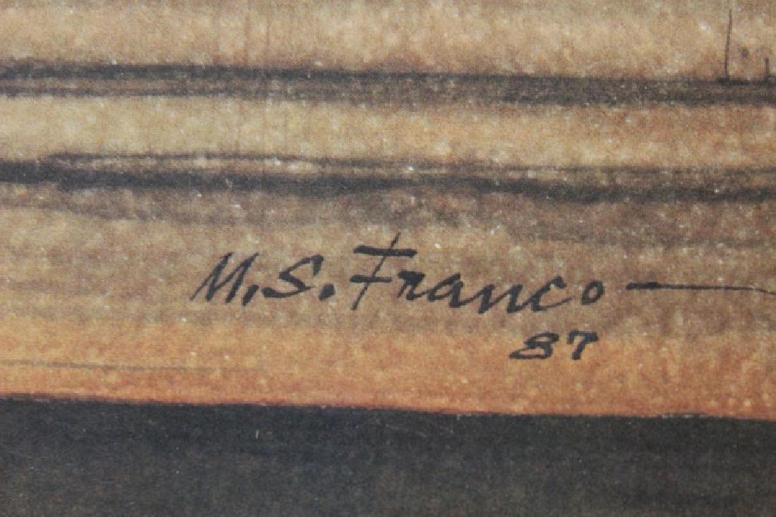 Signed Lithograph Manuel S. Franco - Navajo Blanket - 3