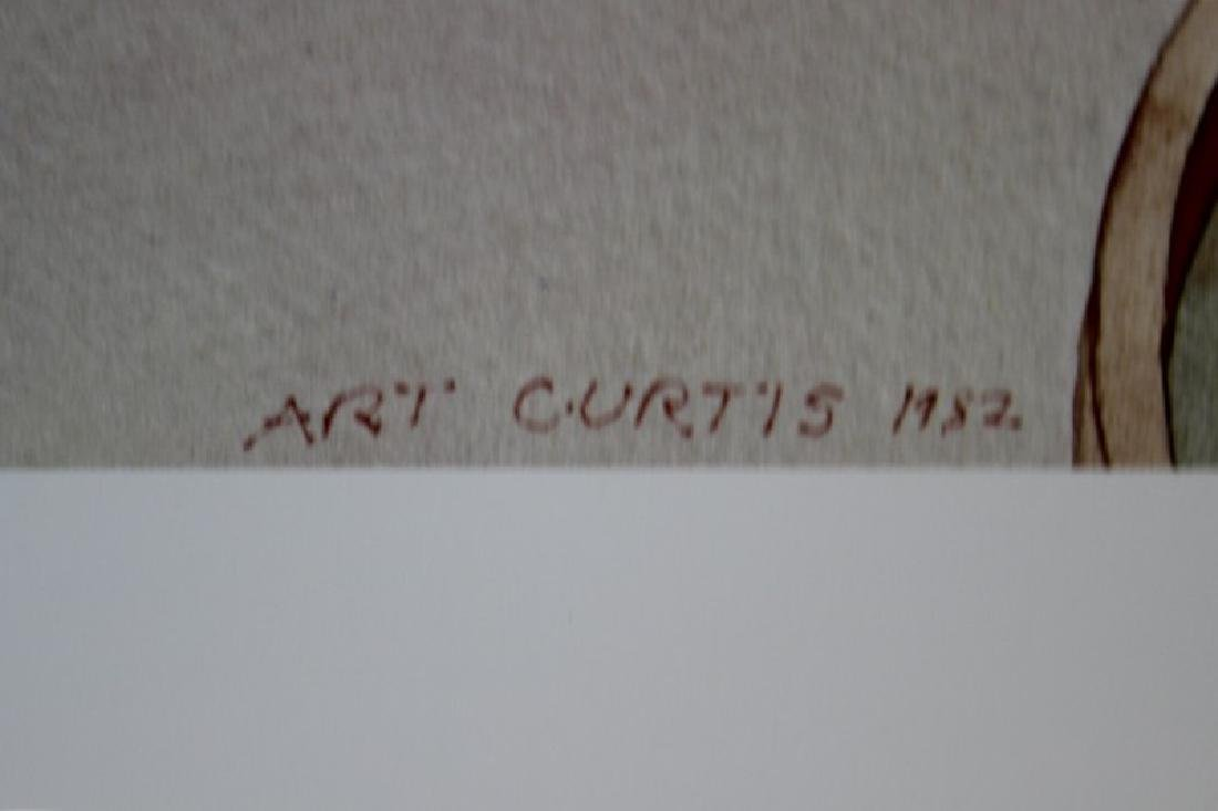 Signed Lithograph Art Curtis - Cactus - 2