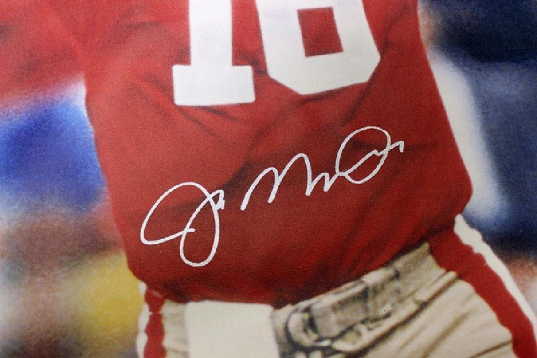 Joe Montana Hand Signed Canvas - 2