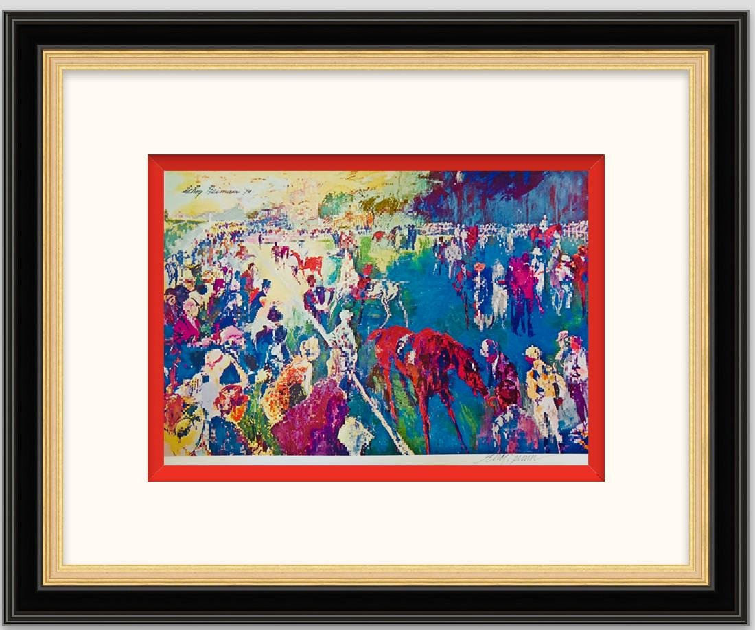 Paddock at Chantilly - LeRoy Neiman