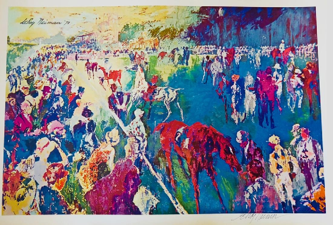 Paddock at Chantilly - LeRoy Neiman - 2