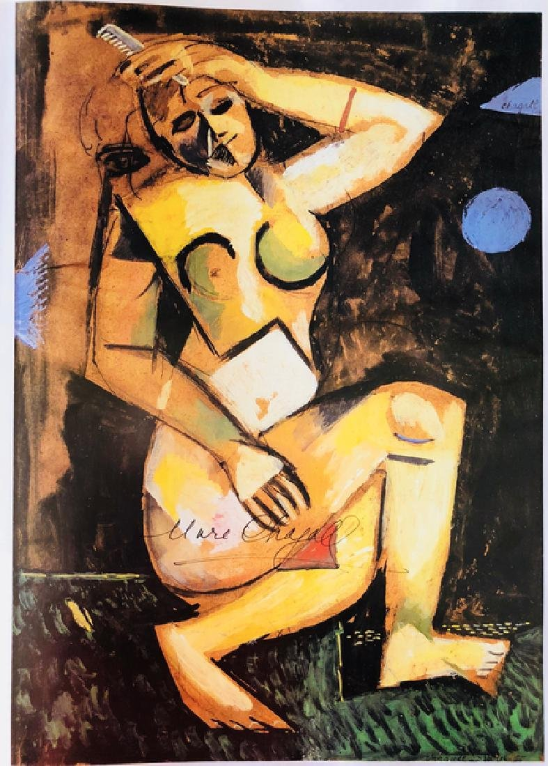 Nude with Comb by Marc Chagall - 2