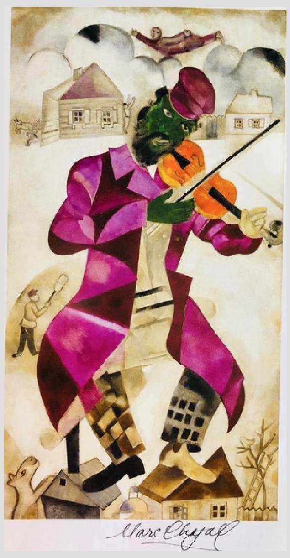 The Green Violinist by Marc Chagall - 2