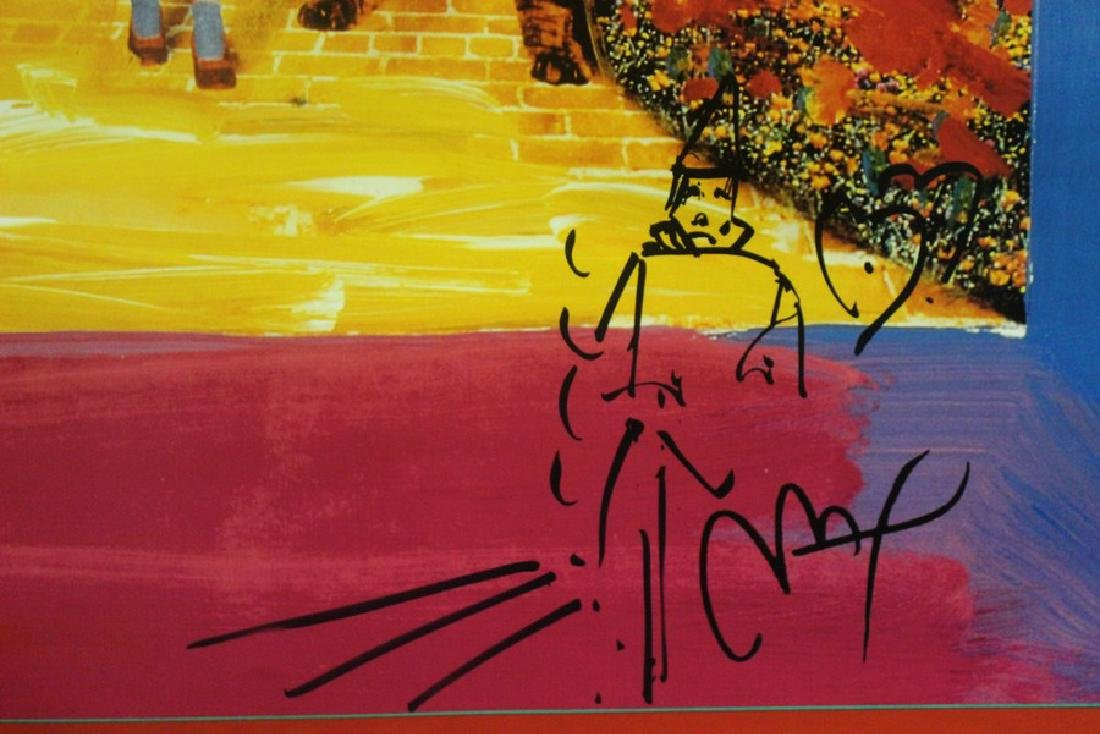 Hand Signed Peter Max Mixed Media - Wizard of Oz - 4