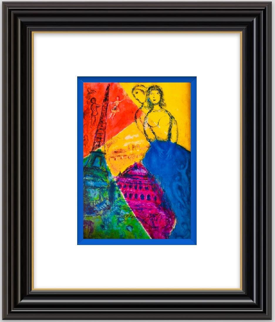 Paris- Lithograph by Marc Chagall