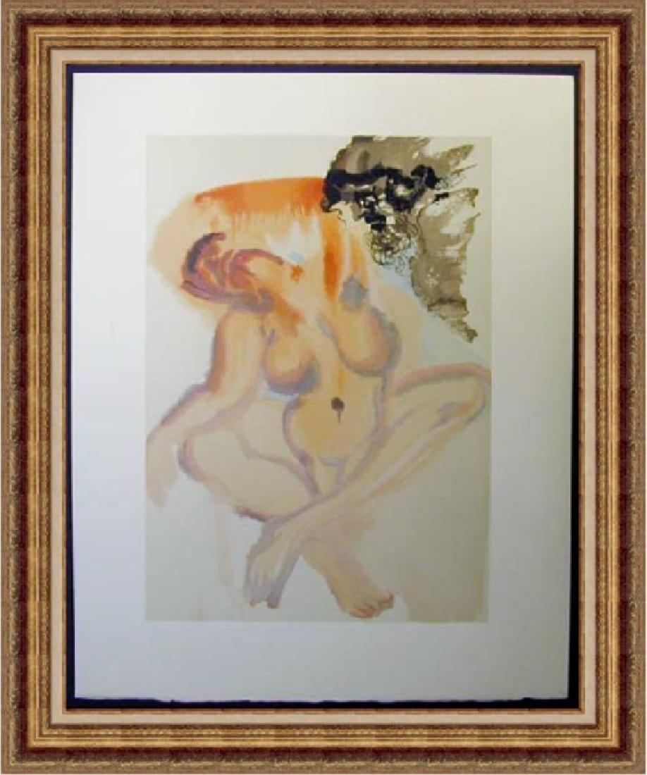 Salvador Dali Woodblock - The Neglectful
