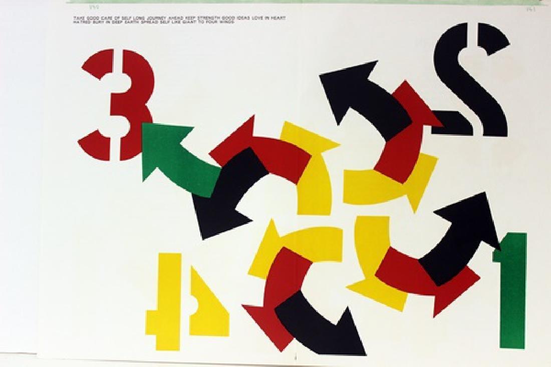 Original Lithograph Robert Indiana - Four Winds - 2